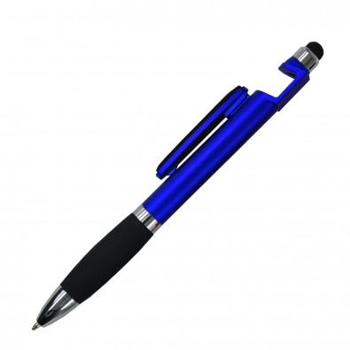 Kugelschreiber 4in1 Santiago Blau-Metallic