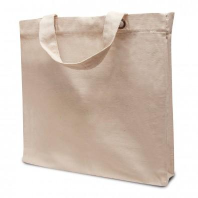 Baumwoll-Einkaufstasche Strong, Kurze Henkel, Natur