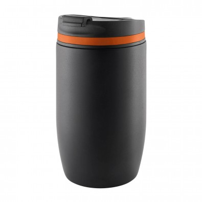 Thermobecher Cup to go Schwarz/Orange