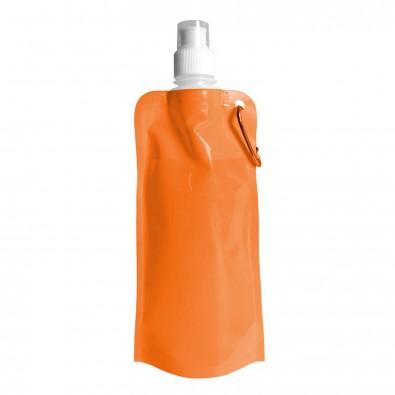 Wasserflasche faltbar, Orange