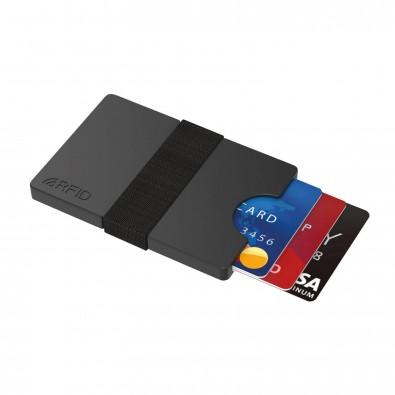 Mini-Portemonnaie iWallet Compact Schwarz