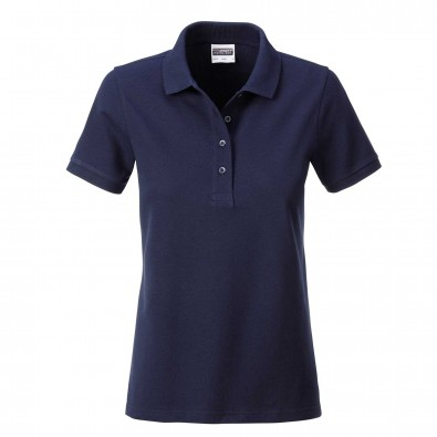 James & Nicholson Basic Polo Bio BW, Lady Navy | M