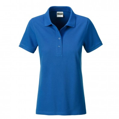 James & Nicholson Basic Polo Bio BW, Lady Royal | XXL