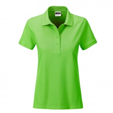 James & Nicholson Basic Polo Bio BW, Lady Lime-Green | S