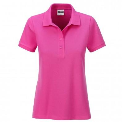 James & Nicholson Basic Polo Bio BW, Lady Pink   M