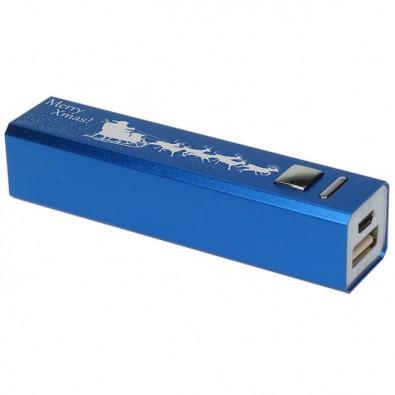 Powerbank Christmas, blau