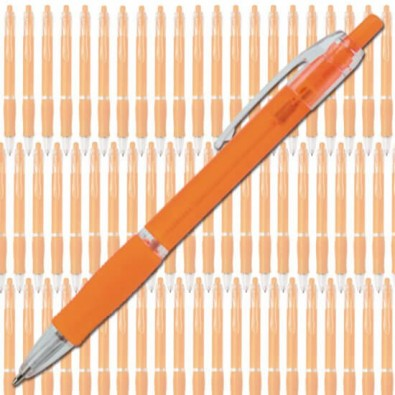 Werbe-Set: 400 Kugelschreiber Atlantis Streuartikel Orange/Frosted