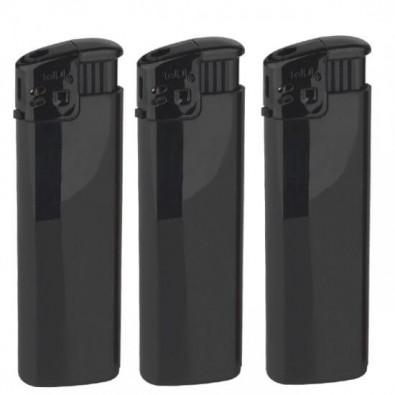 Werbe-Set: 500 Piezo-Feuerzeuge mit Bedruckung Schwarz