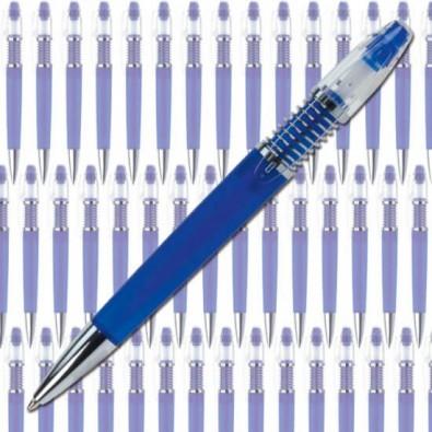 Werbe-Set: 300 Kugelschreiber Druckkugelschreiber Spiralino, Blau