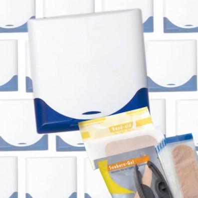 Werbe-Set: 60 Teile VitaBox FirstAid, Weiß/Blau