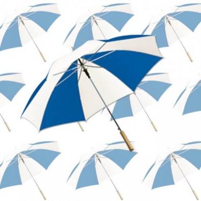 Werbe-Set: 36 Regenschirme Weiß/Blau