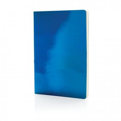 DIN A5 Deluxe Metallic Notizbuch, blau