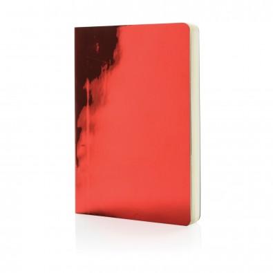 DIN A5 Deluxe Metallic Notizbuch, rot