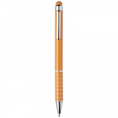 Aluminium glasierter Kugelschreiber, orange