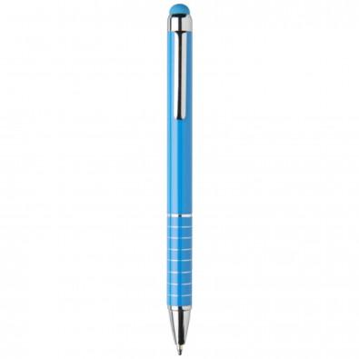 Aluminium glasierter Kugelschreiber, blau