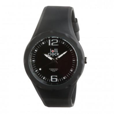 Armbanduhr LOLLICLOCK-FRESH, schwarz/schwarz