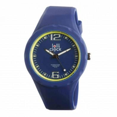 Armbanduhr LOLLICLOCK-FRESH, blau/gelb