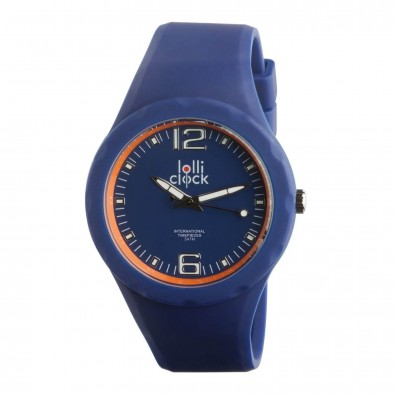 Armbanduhr LOLLICLOCK-FRESH, blau/orange