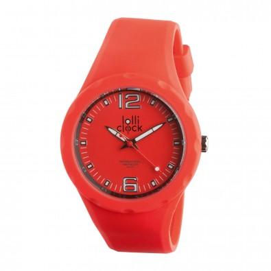 Armbanduhr LOLLICLOCK-FRESH, rot/schwarz