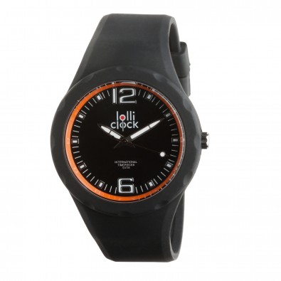 Armbanduhr LOLLICLOCK-FRESH, schwarz/orange