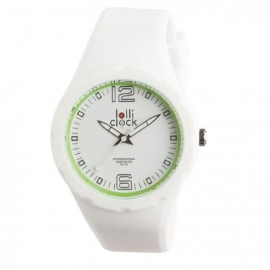 Armbanduhr LOLLICLOCK-FRESH, weiß / hellgrün
