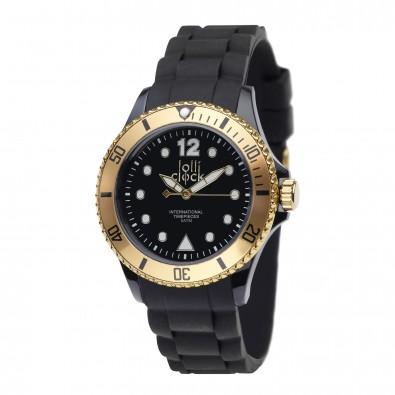 Armbanduhr LOLLICLOCK XVI, schwarz/gold