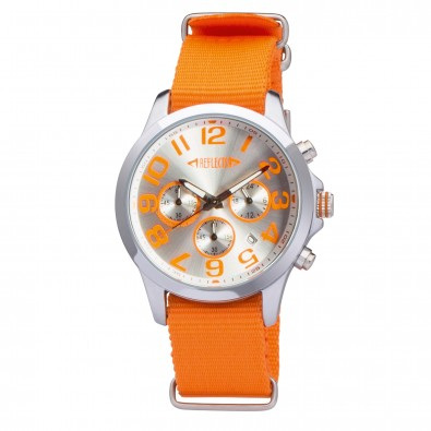 Armbanduhr REFLECTS-CHRONO einfarbig, Orange