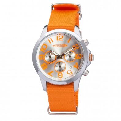 Armbanduhr REFLECTS-CHRONO einfarbig, Orange