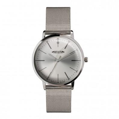 Armbanduhr REFLECTS-CLASSIC, silbernes Ziffernblatt