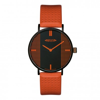 reflects® Armbanduhr Design XVI, orange