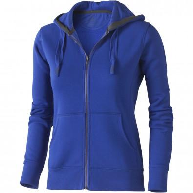 Arora Damen Kapuzensweatjacke, blau, M