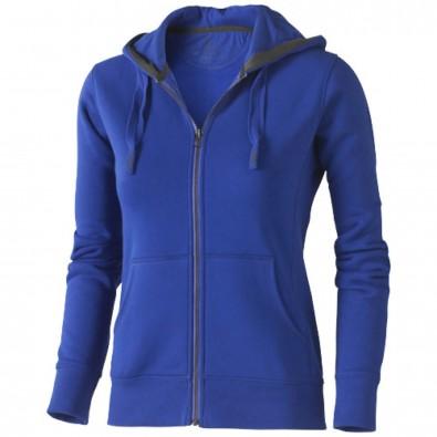 Arora Damen Kapuzensweatjacke, blau, XL
