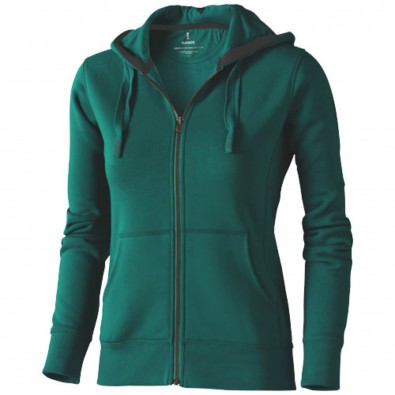 Arora Kapuzensweatjacke für Damen, waldgrün, XXL