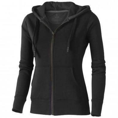 Arora Kapuzensweatjacke für Damen schwarz | L