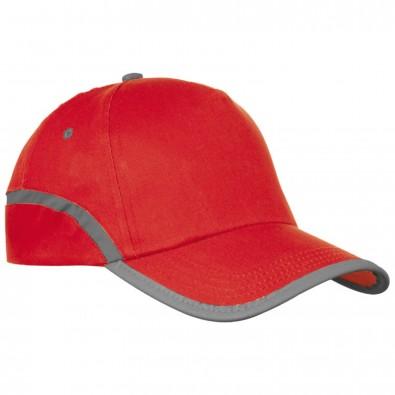 AZO-freie 5-Panel Baumwoll-Baseballcap, rot