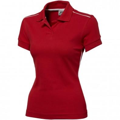Backhand Damen Poloshirt, rot, XL