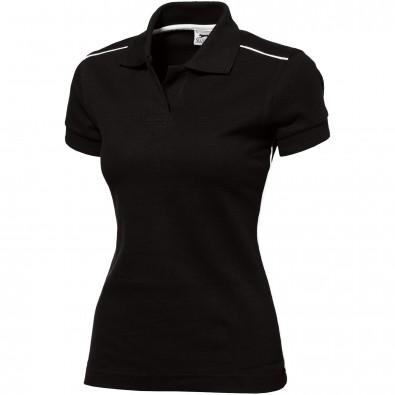 Backhand Damen Poloshirt, schwarz, XL
