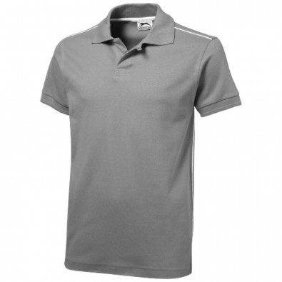 Backhand Poloshirt, grau, XL