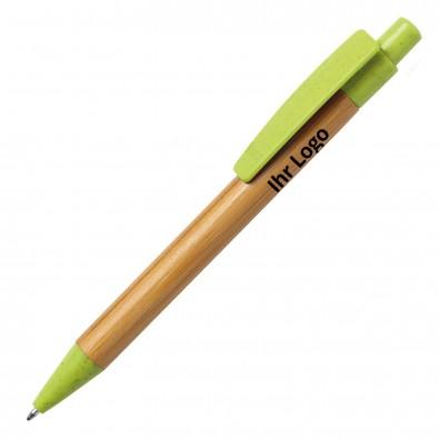 Bambus-Kugelschreiber Sydor, grün