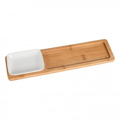 Bambustablett mit Anrichteschale REFLECTS-LIDA