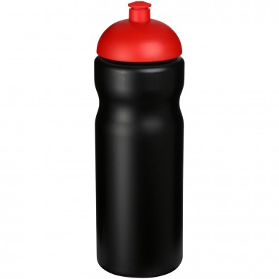 Baseline® Plus 650 ml Sportflasche mit Kuppeldeckel, schwarz,rot