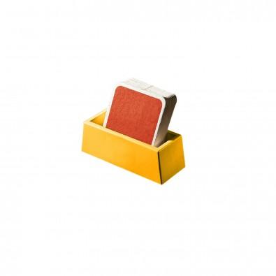 """Bierdeckel-Ständer """"Tip"""", standard-gelb"""