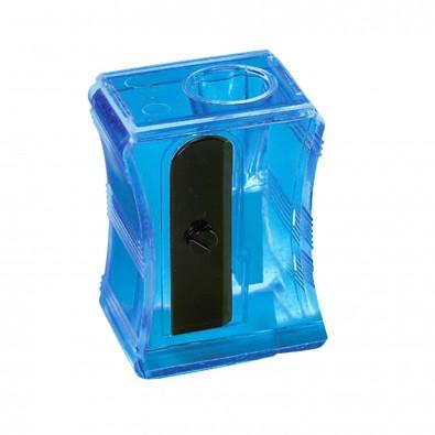 "Bleistiftspitzer ""Maxi"", transparent-blau"
