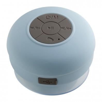 Bluetooth® Duschlautsprecher mit Radio REFLECTS-AVIGNON, hellblau