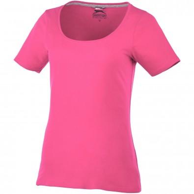 Bosey – T-Shirt mit weitem Rundhalsausschnitt für Damen, rosa, XL