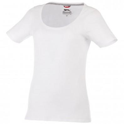 Bosey – T-Shirt mit weitem Rundhalsausschnitt für Damen, weiss, XS