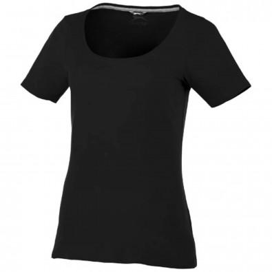 Bosey T-Shirt mit weitem Rundhalsausschnitt für Damen, schwarz, M