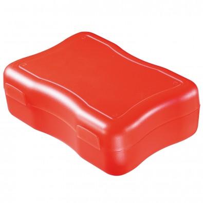 Brotzeitdose Wave, groß, standard-rot