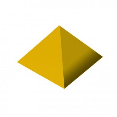 Büroklammernhalter Magnet-Pyramide, standard-gelb