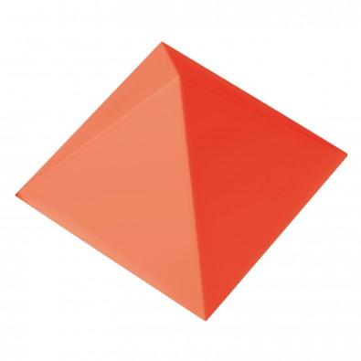 Büroklammernhalter Magnet-Pyramide, standard-rot